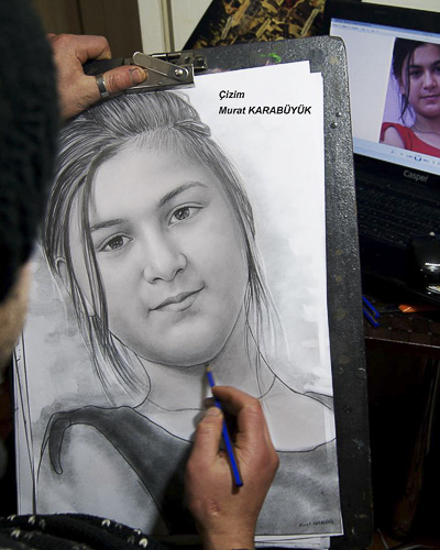 Karakalem Portre Çizimleri - Sanatsal Hediyeler İstanbul kadıköy bağdat caddesi üsküdar çizim 235