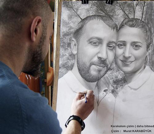 Karakalem Portre Çizimleri - Sanatsal Hediyeler İstanbul kadıköy bağdat caddesi üsküdar çizim 227