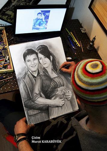 Karakalem Portre Çizimleri - Sanatsal Hediyeler İstanbul kadıköy bağdat caddesi üsküdar çizim 219