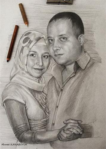 Karakalem Portre Çizimleri - Sanatsal Hediyeler İstanbul kadıköy bağdat caddesi üsküdar çizim 217