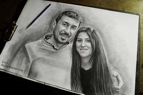 Karakalem Portre Çizimleri - Sanatsal Hediyeler İstanbul kadıköy bağdat caddesi üsküdar çizim 213