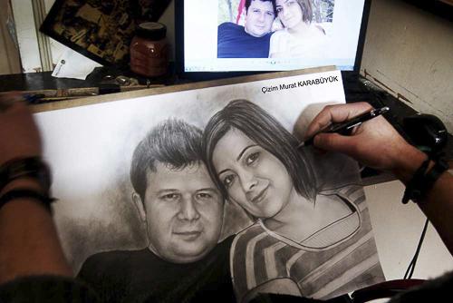 Karakalem Portre Çizimleri - Sanatsal Hediyeler İstanbul kadıköy bağdat caddesi üsküdar çizim 211