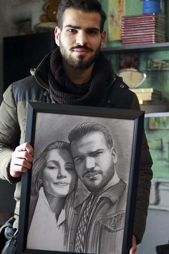 Karakalem Portre Çizimleri - Sanatsal Hediyeler İstanbul kadıköy bağdat caddesi üsküdar çizim 209