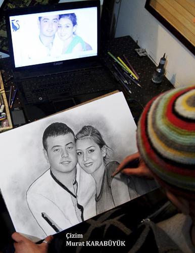 Karakalem Portre Çizimleri - Sanatsal Hediyeler İstanbul kadıköy bağdat caddesi üsküdar çizim 208