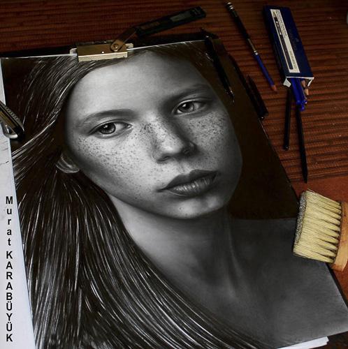 Karakalem Portre Çizimleri - Sanatsal Hediyeler İstanbul kadıköy bağdat caddesi üsküdar çizim 186