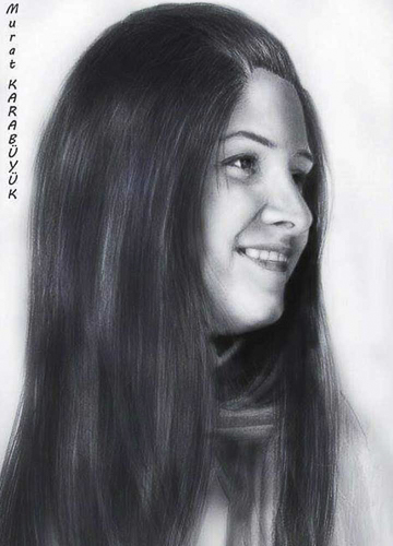 Karakalem Portre Sevgili Hediye İstanbul portre çizim 26