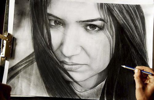 Karakalem Portre Sevgili Hediye İstanbul portre çizim 25