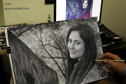 Karakalem Portre Çizimleri - Sanatsal Hediyeler İstanbul kadıköy bağdat caddesi üsküdar çizim 163