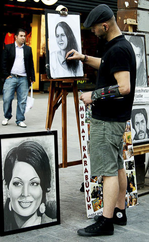 Karakalem Portre Çizimleri - Sanatsal Hediyeler İstanbul kadıköy bağdat caddesi üsküdar çizim 162