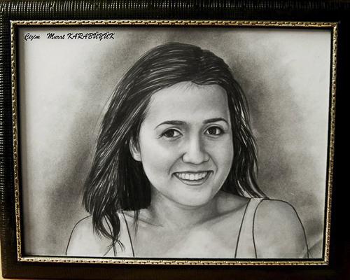 Karakalem Portre Çizimleri - Sanatsal Hediyeler İstanbul kadıköy bağdat caddesi üsküdar çizim 155