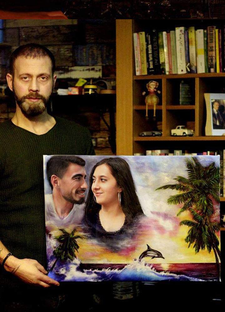İstanbul Yağlıboya Portre Sipariş Fiyatları Karakalem Çizimleri Sanatsal Hediyeler İstanbul kadıköy bağdat caddesi üsküdar 23