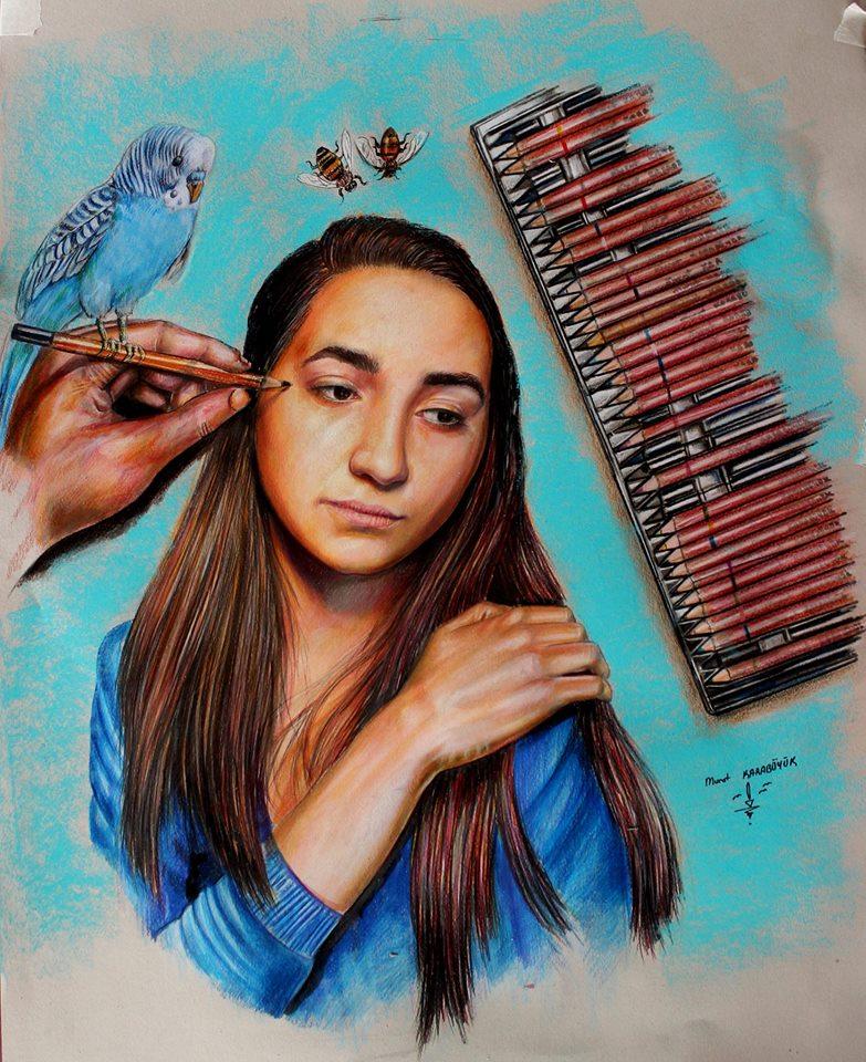pastel portre istanbul murat karabüyük 33