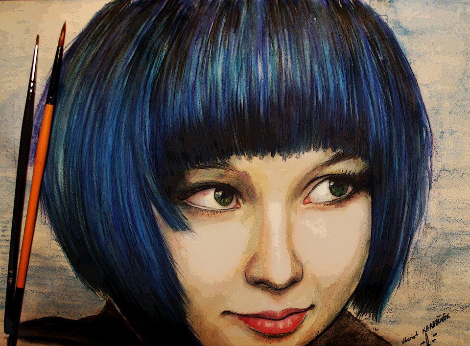 pastel Portre Çizimleri - İstanbul kadıköy bağdat caddesi üsküdar çizim karkalem 5