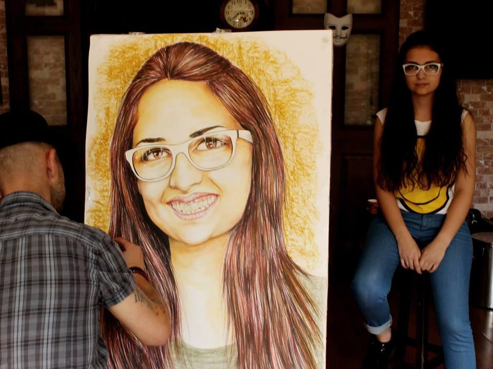 pastel Portre Çizimleri - İstanbul kadıköy bağdat caddesi üsküdar çizim karkalem 8