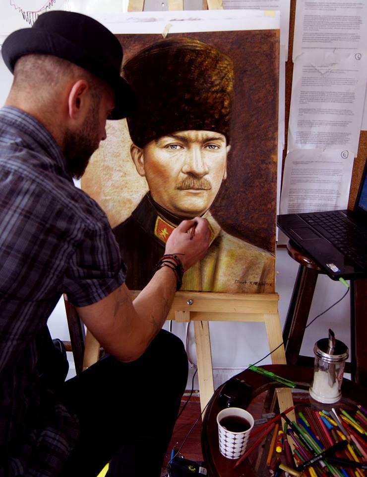 pastel Portre Çizimleri - İstanbul kadıköy bağdat caddesi üsküdar çizim karkalem 12