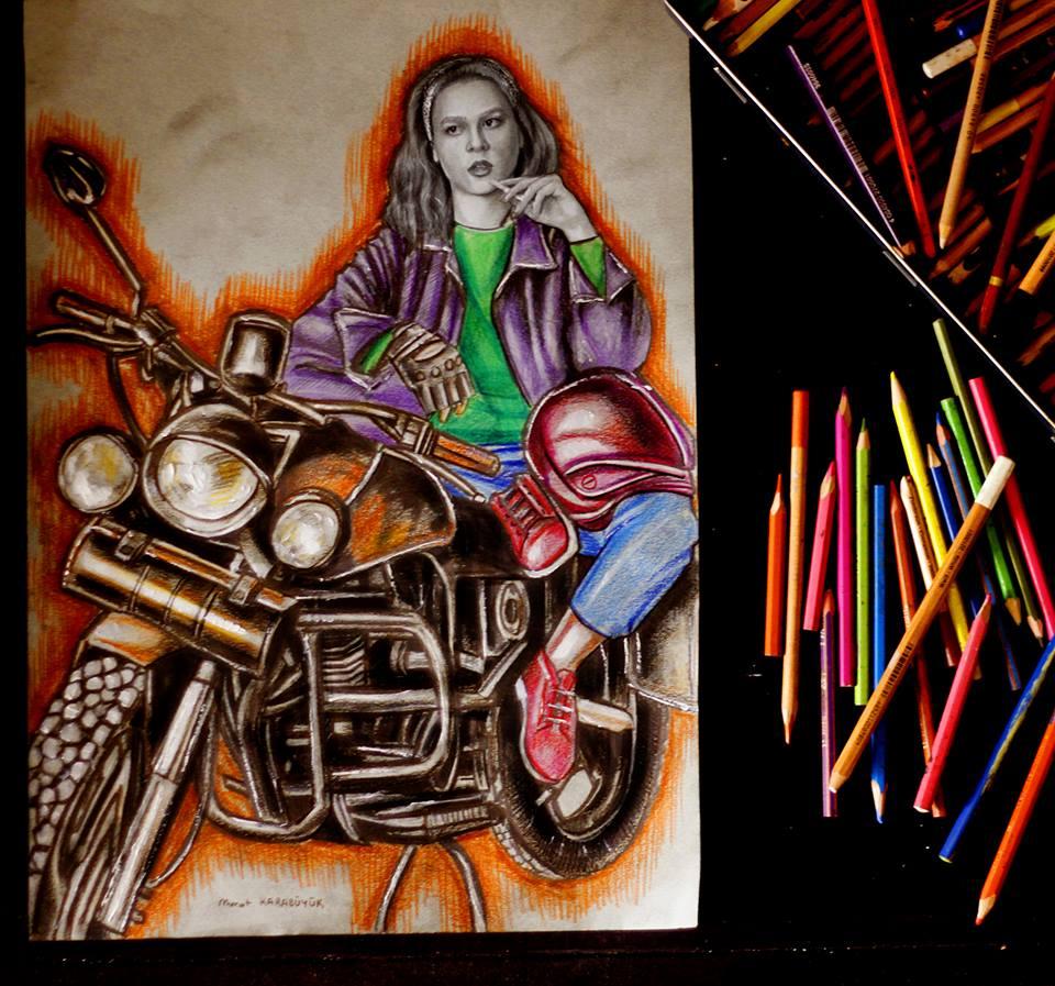 pastel Portre Çizimleri - İstanbul kadıköy bağdat caddesi üsküdar çizim karkalem 14