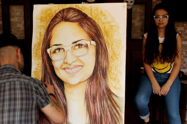 pastel Portre Çizimleri - İstanbul kadıköy bağdat caddesi üsküdar çizim karakalem 30
