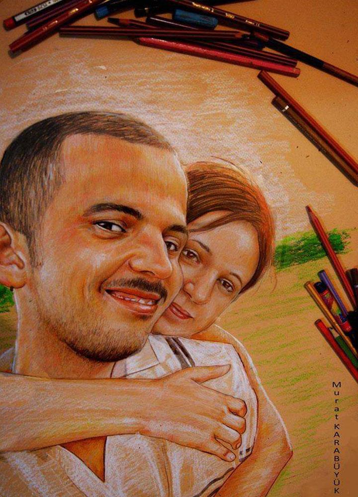 pastel portre istanbul murat karabüyük 4