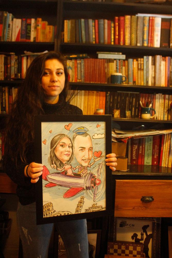 Karikatür Portre Çizimleri - İstanbul kadıköy bağdat caddesi üsküdar çizim 248